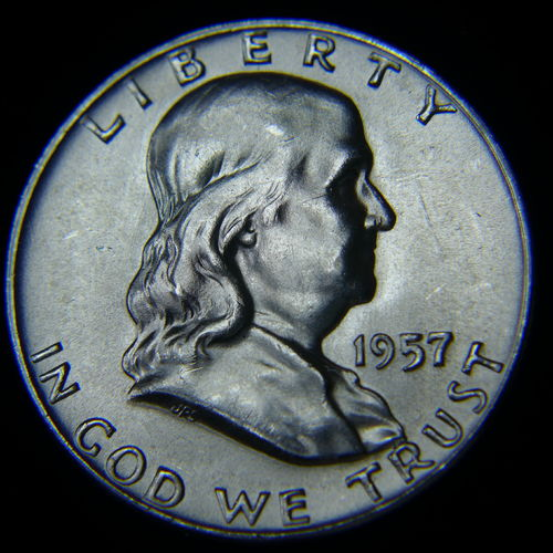 1957 D Franklin Half Dollar BU