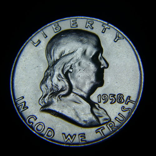 1958 D Franklin Half Dollar BU