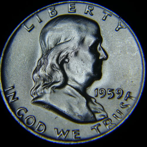1959 Franklin Half Dollar BU