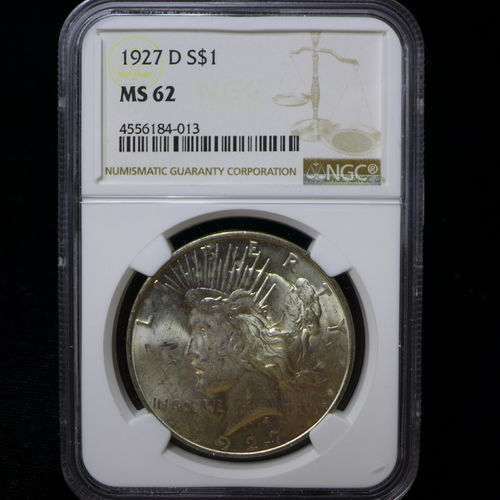 1927 Peace Silver Dollar NGC MS62