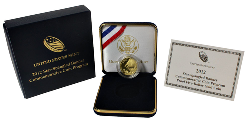 2012 Star-Spangled Banner Proof Five-Dollar Gold Coin